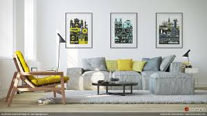 Yellow Table L Living Room Scandinavian Living Room Design Ideas With L