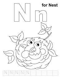 free coloring pages baby birds nest note