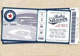 baseball baby shower invitation set of 15