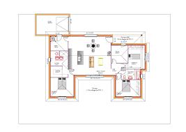 plan cuisine en u plan de maison plain pied en u ouvert 6 327175 lzzy co 4 toit plat