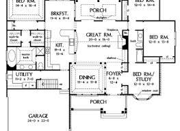 one level open floor plans one level open floor house plans four bedroom house floor plan good