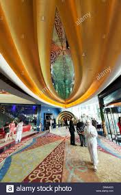 burj al arab hotel dubai ornate 7 star luxurious interior in the