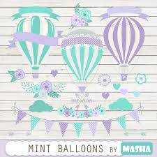 Baby Shower Save The Date Air Balloons Clipart