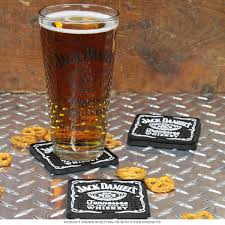 jack daniels rubber drink coasters set of 4 table coasters zoom