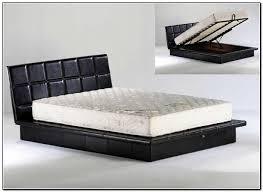 Black Leather Platform Bed Impressive Black Leather Platform Bed With Sleep Sync Shoreline