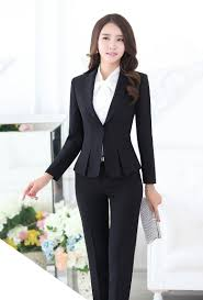 styles of work suites formal pant suits for women business suits for work wear sets gray