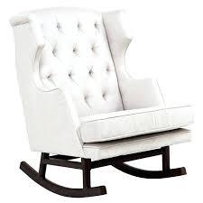 White Rocking Chairs For Nursery White Glider Nursery Furniture White Upholstered Rocking Chair