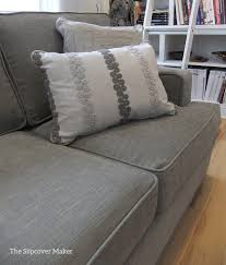 sofa slipcover in pottery barn performance tweed the slipcover maker
