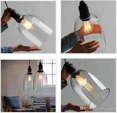 discount retro industrial diy ceiling lamp light glass pendant