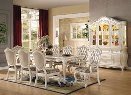 furniture versailles formal dining room set in white