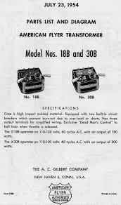 american flyer transformer 18b u0026 30b parts list and diagram traindr