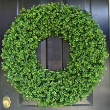 28 inch artificial boxwood wreath oversized wreath