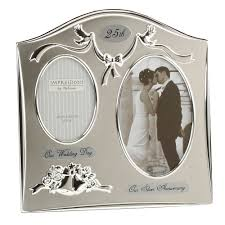 25th anniversary ideas two tone silverplated wedding anniversary gift photo