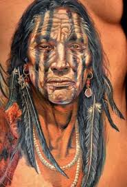 indian on chest