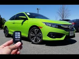 honda civic coupe lx vs ex 2016 honda civic coupe ex t start up test drive and review