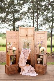 wedding backdrop rustic rustic door and wooden box lace wedding backdrop ideas deer