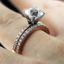 engagement ring vs wedding ring trendy wedding ring set on finger 10 trendy mods