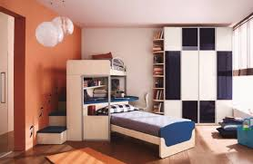 teens room loft bed with desk and stairs for teenagers fence