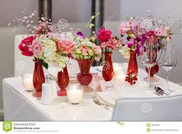 elegant and romantic table set decoration for wedding or event p