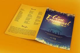 christmas concert program template emmanuel christmas program template templates creative market