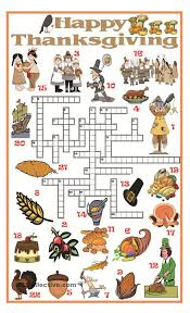 thanksgiving crossword workshops thanksgiving