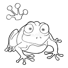 paw print frog coloring pages vector stock vector image