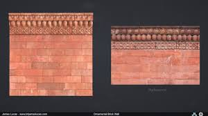 artstation ornamental brick wall lucas