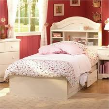 White Bookshelf Headboard by Bookcase Beds Bookcase Bed Frames Cymax Com
