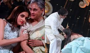 Jaya Bachchan Hot Pics - these pictures of aishwarya rai bachchan leaning on jaya