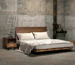 Natural Bedroom Ideas Bedroom Mesmerizing Wood Natural Bed Frames Industrial Style
