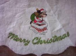 vintage santa mickey mouse merry christmas tree skirt walt disney