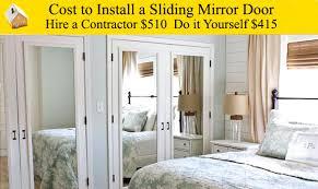 Cost Install Sliding Patio Door Cost To Install Sliding Mirror Door Youtube