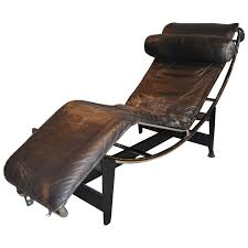 early le corbusier jeanneret perriand lc4 chaise lounge for at 1stdibs