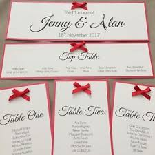 ribbon with names handmade personalised table seating plan names individual cards