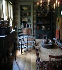 primitive dining room rustic farmhouse primitive cottage