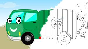 garbage truck coloring book scary video for kids halloween