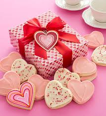 cookie box favors day cookie box heart cutout cookies