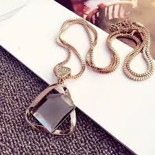 crystal glass pendant necklace images Wish european fashion charm geometry crystal glass pendant jpg