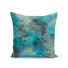 Turquoise Home Decor Accessories Throw Pillow Cover Teal Turquoise Lime Grey Modern Home Decor