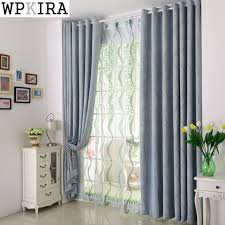 Striped Blackout Curtains Chenille Curtains Voile Modern Simple Striped Blackout Curtains