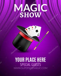 Curtains Show Magic Show Poster Design Template Magic Show Flyer Design With