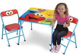 Childrens Folding Table And Chair Set Sesame Street Metal Folding Table U0026 Chair Set Delta Children U0027s