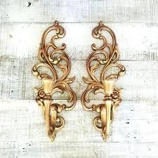 wall sconce candelabra 3 candle home interior vintage ebay gold candle sconces gold pillar candle holder set pmdplugins com