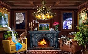 living room by jerry lofaro phosphor art