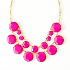 bead necklace pink images Bauble box bib pink double strand necklace with faceted resin beads jpg