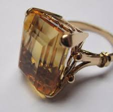 big old rings images Big chunky citrine 1940s retro ring picture of antoinette jpg