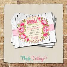 brunch invites shabby chic bridal shower invitation wood pink bridal brunch