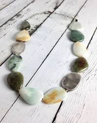 necklace chunky images Handmade chunky necklace with large polished burmese jade and jpg
