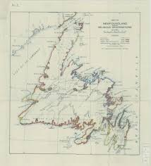 Newfoundland Map Map Of Newfoundland Showing Religious Denominations Map Room