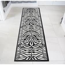 Zebra Runner Rug Black White Zebra Animal Runner Rug Kukoon